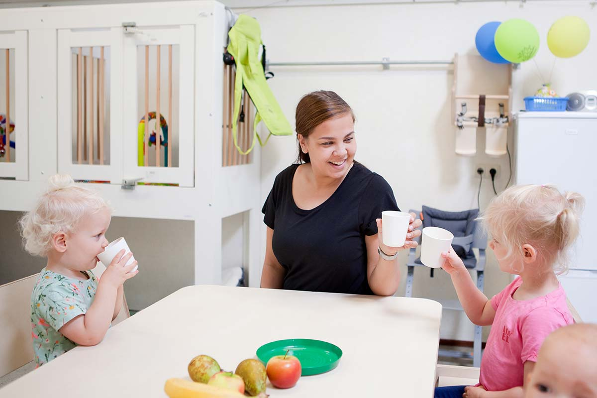 eten en drinken op het kinderdagverblijf
