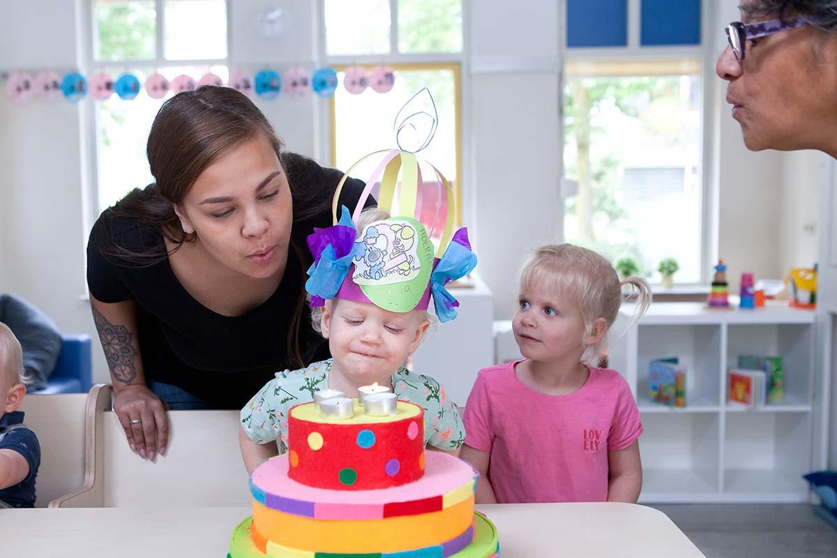 verjaardag vieren bij de kinderopvang
